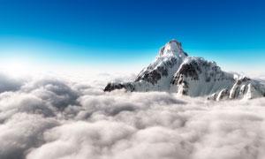 云海中的雪山美景色号有图片
