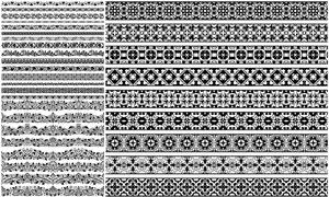 多种样式装饰分割线矢量素材集V09