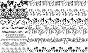 多种样式装饰分割线矢量素材集V13