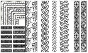 多种样式装饰分割线矢量素材集V15