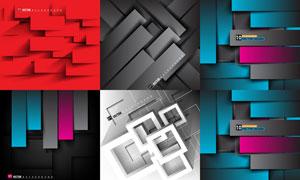 立体几何图形背景创意设计矢量素材
