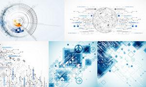 齿轮与球体等科技创意背景矢量素材