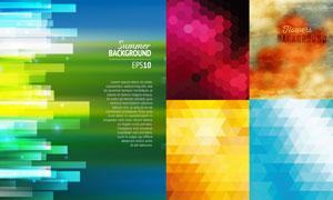 缤纷几何元素背景创意矢量素材V02