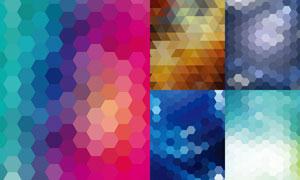 缤纷几何元素背景创意矢量素材V03
