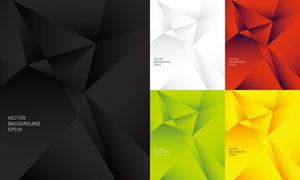 缤纷几何元素背景创意矢量素材V05