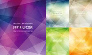 缤纷几何元素背景创意矢量素材V06