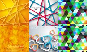 缤纷几何元素背景创意矢量素材V14