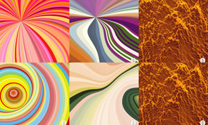 缤纷几何元素背景创意矢量素材V29