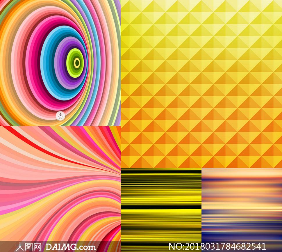 缤纷几何元素背景创意矢量素材v30