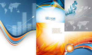 抽象背景创意设计矢量素材集合V31