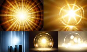 炫丽光效元素主题创意矢量素材V01