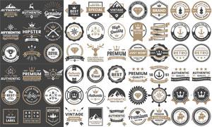 圆形的质量标签等创意设计矢量素材