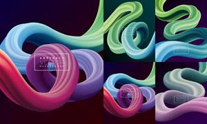 缤纷多彩缠绕效果抽象背景矢量素材