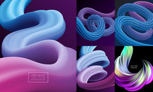 立体缠绕样式抽象背景创意矢量素材