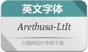 Arethusa-LightItalic(英文字体)