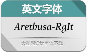 Arethusa-RegularItalic(英文字体)