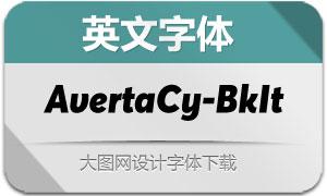 AvertaCyrillic-BlackItalic(英文字体)