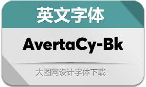 AvertaCyrillic-Black(英文字体)