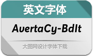 AvertaCyrillic-BoldItalic(英文字体)