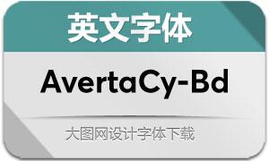 AvertaCyrillic-Bold(英文字体)