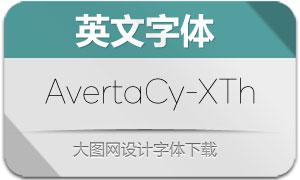 AvertaCyrillic-XThin(英文字体)