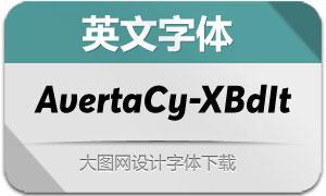 AvertaCyrillic-ExtraBdIt(英文字体)