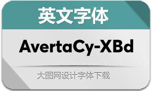 AvertaCyrillic-ExtraBd(英文字体)