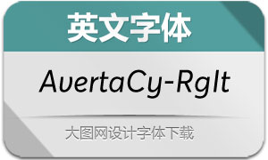 AvertaCyrillic-RegularIt(英文字体)