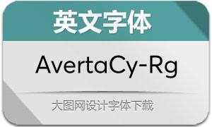 AvertaCyrillic-Regular(英文字体)