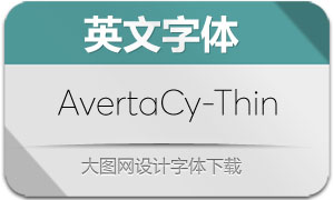 AvertaCyrillic-Thin(英文字体)