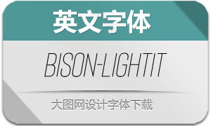 Bison-LightItallic(英文字体)