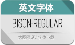 Bison-Regular(英文字体)
