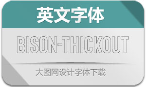 Bison-ThickOutline(英文字体)