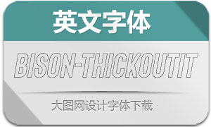 Bison-ThickOutlineIt(英文字体)