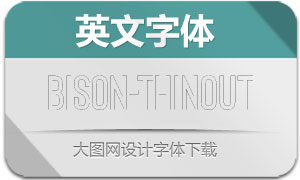 Bison-ThinOutline(英文字体)