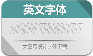Bison-ThinOutlineItallic(英文字体)