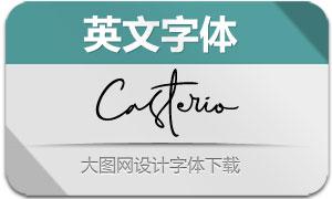 Casterio系列两款英文字体