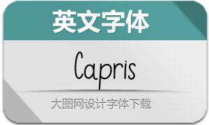 Capris系列两款英文字体