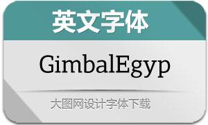 GimbalEgyp系列12款英文字体