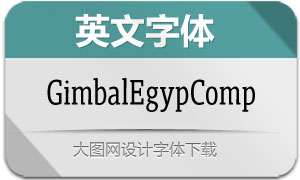 GimbalEgypComp系列12款英文字体