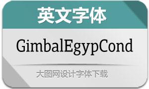GimbalEgypCond系列12款英文字体