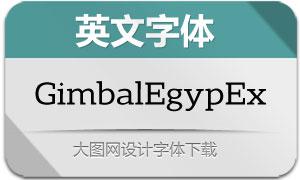 GimbalEgypExtd系列12款英文字体