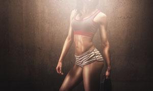 性感肌肉健身美女局部摄影高清图片