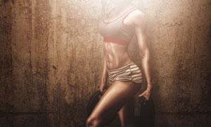 力量训练肌肉美女人物摄影高清图片