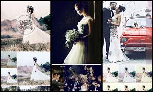 45款婚纱照片后期复古效果PS动作