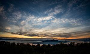 日落时分海上岛屿风光摄影高清图片