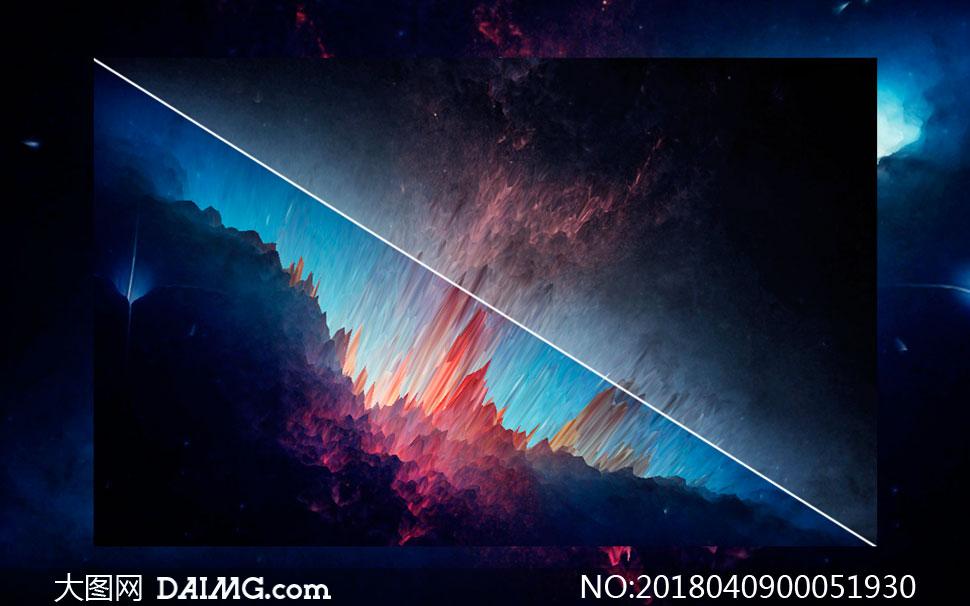 创意突刺风格的星空海报PS教程素材