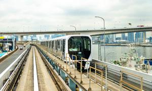 城市公共交通地铁车辆摄影高清图片