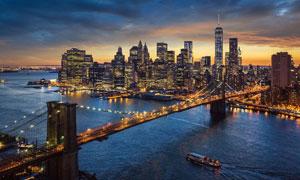 国际化大都市夜晚风光摄影高清图片