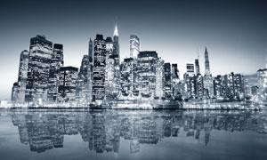 灯火通明效果城市夜景摄影高清图片